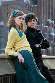 Karen Gillan and Aneurin Barnard We'll Take Manhattan. Just watched it and it is a really good movie.