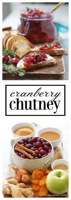 This beautiful cranberry chutney recipe is a delicious alternative to cranberry sauce. It's perfect on everything from crostini to cheese boards to Buddha bowls! Cranberry chutney also makes a great DIY gift! Cranberry Recipes, Cranberry Sauce, Fall Recipes, New Recipes, Holiday Recipes, Vegan Recipes, Cooking Recipes, Favorite Recipes, Holiday Foods