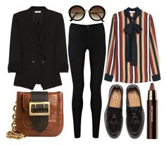 """street style"" by sisaez ❤ liked on Polyvore featuring Helmut Lang, Burberry, Oasis, H&M, Hourglass Cosmetics and MANGO"