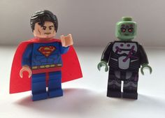 LEGO Superman and Brainiac Custom Minifigure Superman, Batman, Lego System, Lego Dc, Anonymous, Toys, Board, Activity Toys, Clearance Toys