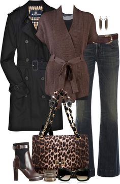 """Black and Brown"" by partywithgatsby ❤ liked on Polyvore"