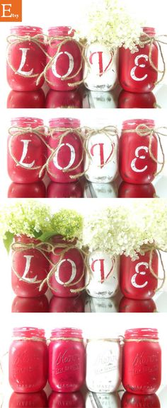 I cannot WAIT to get these Rustic Valentines Mason Jars!! #rusticvalentines #rusticdecor #valentinesdecor #affiliate #masonjars #masonjardecor