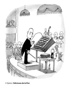 Everything & Nothing: Quino - Bien gracias, ¿y usted? (Well Thank You, and You? Music Jokes, Music Humor, Music Is Life, My Music, Band Memes, Humor Grafico, Amazing Adventures, Classical Music, Music Stuff