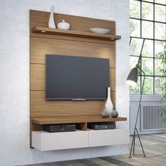 Compre Painel para TV e pague em até sem juros. Na Mobly a sua compra é rápida e segura. Tv Unit Decor, Tv Wall Decor, Home Room Design, Home Office Design, Lcd Wall Design, Tv Unit Interior Design, Bedroom Tv Wall, Modern Tv Wall Units, Tv Unit Furniture