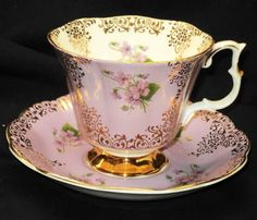 Royal Albert England Mauve Purple Gold