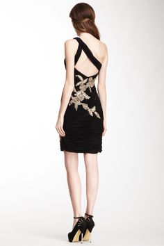 Sue Wong One Shoulder Short Dress on HauteLook