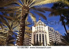 plage miami, architecture Voir Image Grand Format