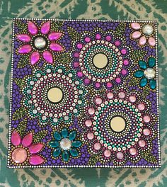 A personal favorite from my Etsy shop https://www.etsy.com/listing/490031148/mosaic-mandala-painting-10x10-inches