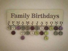 Amazing idea.. Im so forgetful when it comes to birthdays ...except I would make it more steph style
