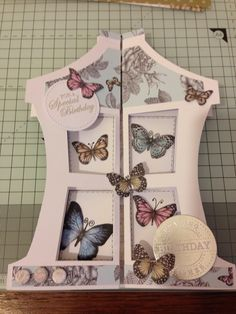 Craftwork Cards lantern card and butterfly paper pad made at Craftwork Cards workshop Feb 2015