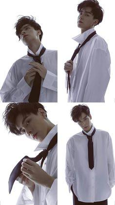 This how u do ur tie Asian Celebrities, Asian Actors, Korean Actors, Pretty Boys, Cute Boys, China Movie, A Love So Beautiful, Lee Dong Wook, Meteor Garden