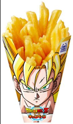 Dragon Ball Z : des frites Son Goku venues du Japon ! Cool Packaging, Packaging Design, Fries Packaging, Product Packaging, Food Branding, French Fries, Design Thinking, Geek Stuff, Product Design