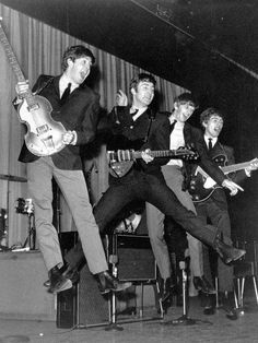 The Beatles jumping for joy,love the action shots.. cherokee