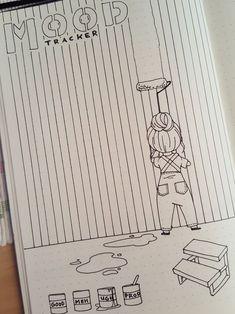 Easy Bullet Journal, So gestalten Sie das kreative Leben kreativ - Tricot Easy Bullet Journal, How to design creative life creatively Projects Bullet Journal Tracker, Bullet Journal Notebook, Bullet Journal Ideas Pages, Bullet Journal Spread, Bullet Journal Inspo, Bullet Journal Layout, Journal Pages, Bullet Journal August, Life Journal