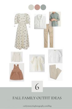 Neutral Family Photos, Spring Family Pictures, Family Picture Colors, Fall Family Photo Outfits, Photographer Outfit, Family Photographer, Family Photo Sessions, Mini Sessions, Clothing Photography