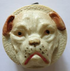 BULL DOG VINTAGE CELLULOID SEWING TAPE MEASURE, GERMANY