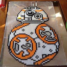BB-8 Star Wars:The Forece Awakens perler beads by  obi_wong