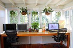 Carrie & Hal's Modern Bohemian Home - hangplanten