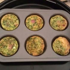 Egg Muffins With Mini Smoke Beef Sausage,Green Onion,Green Bell Pepper, Garlic Salt, And Ground Black Pepper In NuWave Oven for 10min...OnoKindBreakfast...DoiBoiHomeMadeStyleCooking
