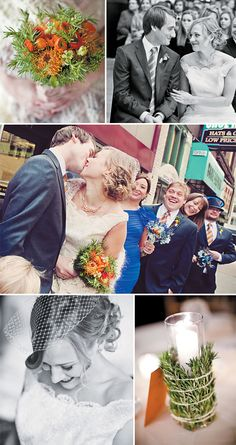 Romantic wedding with rustic details Photos: Abby Rose Photo #weddings