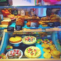 Cake Display! Lucky Break Coffee Shop in the French Riviera