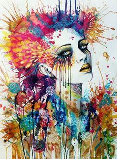 Colorful Portrait Painting by Svenja Jödicke. #art #portrait #painting