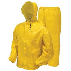 frogg+toggs+Men's+Waterproof+Ultra-Lite2+Suit,+Bright+Yellow,+2XL