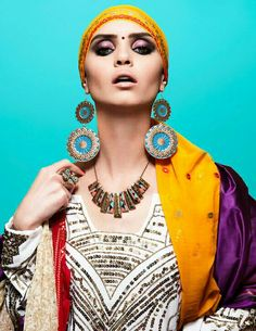 Indian inspired editorial.