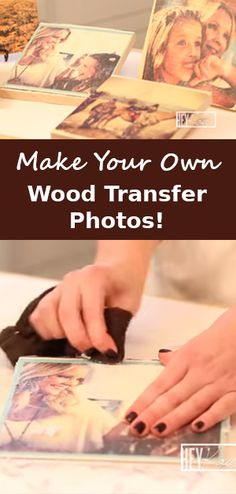 Say goodbye to boring picture frames! Learn how to make this unique wooden frame. ---Video tutorial http://gwyl.io/these-wood-transfer-pictures-make-amazing-gifts/  #diy #woodcrafts #photos