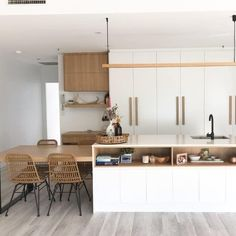 Featuring warm timber Coastal Kitchens, Divider, Warm, Furniture, Home Decor, Interior Design, Home Interior Design, Arredamento, Room Screen