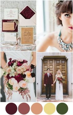 Meet Marsala – 2015′s Wedding Colour of the Year | weddings online *Loving Marsala Palettes!