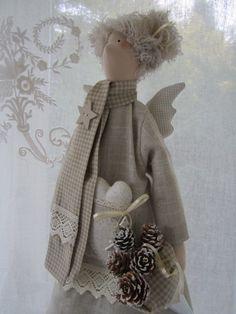 Weihnachtsdeko - Weihnachts- Engel im Landhausstil - ein Designerstück von Feinerlei bei DaWanda