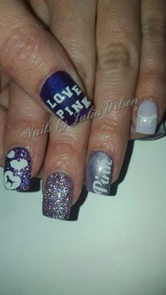 #LOVEPINK #VS #VICTORIASSECRET #PURPLE #NailsbyJuliaWilson #nails