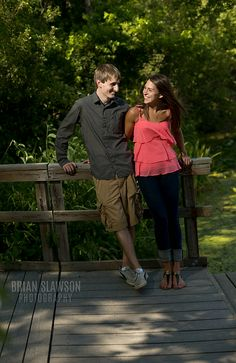 Photo by Brian Slawson Photography. Outdoor engagement shoot. Whitnall Park, Milwaukee, WI. #outdoor #woods