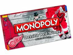 Monopoly Detroit Red Wings by USAOPOLY, Inc. $24.99. From the Manufacturer                Nhl and the Monopoly game have teamed up to put an exciting new spin on america's favorite board game. Monopoly, detroit red wings. Buy, sell and trade the most popular players and team assets in a quest to own them all. Buy and sell all of the team favorites to create your own team.                                    Product Description                This must-have collector's Monopol...