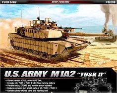 Academy 1/35 Plastic Model Kit US Army M1A2 Tusk II V2 Tusk #13298