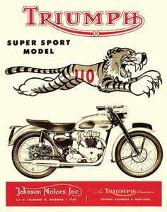 Phenomenal Finding Vintage Cars That Are For Sale Triumph Motorcycles, Indian Motorcycles, Triumph Logo, British Motorcycles, Vintage Motorcycles, Vespa Vintage, Vintage Bicycles, Vintage Cars, Motorcycle Posters