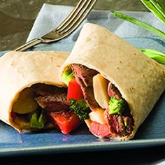 Sesame Ginger Beef Wraps