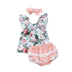 Infant Baby Girls Romper Short Sleeve Worth The Wait Letter Print Bodysuit Bloomers Skirt Bow Sequin Headband Sets Shoes-Jewelry Girls Accessories Shoes-Jewelry Girls Accessories Shoes-Jewelry Floral Tops, Lace Tops, Ruffle Shorts, Lace Ruffle, Floral Shorts, Baby Girl Romper, Baby Girl Newborn, Baby Girls, Baby Baby