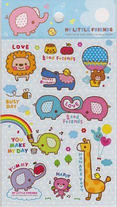 Kawaii My Little Friends Sticker Sheet