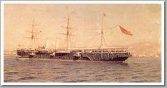 Crucero Alfonso XII. Cuando el desastre, este navío, que estaba harto de mili y de patrullar las costas cubanas, contra lo que se decía, piratas (insurgentes introduciendo armas de contrabando), la de Santiago de Cuba le pilló en puerto  en reparaciones.