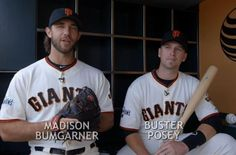 Bumgarner: Charlie Brown, come to San Francisco and I can give you some tips on pitching. Posey: I'll even teach you how to hit. Together: Happy anniversary, Charlie Brown. My Giants, Giants Baseball, Madison Bumgarner, Buster Posey, Tampa Bay Rays, Derek Jeter, Oakland Athletics, St Louis Cardinals, Chicago White Sox