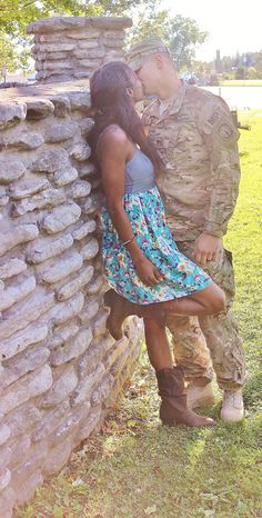 Strong and proud interracial military couple #love #wmbw #bwwm