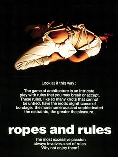bernard tschumi's advertisements for architecture