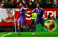 Real Madrid set Spanish record 40-game unbeaten run   Madrid (AFP)  Karim Benzema struck deep into stoppage time as Real Madrid set a new Spanish record by extending their unbeaten run to 40 games in a thrilling 3-3 draw at Sevilla to progress to the Copa del Rey quarter-finals on Thursday.  Holding a 3-0 first leg lead a Cristiano Ronaldo-less Real looked set for defeat for the first time in eight months as an own goal from Danilo and second-half strikes from Stefan Jovetic and Vicente…