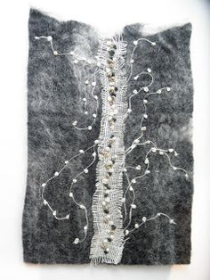 Abstract..embroidered felt by linda lammerts: