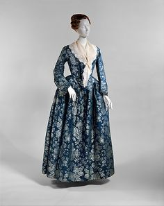 Dress 1725, Danish, Made of silk