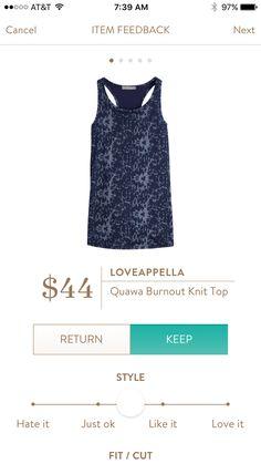Loveappla Quana burnout knit top #stitchfix #tank