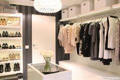 white shelves + lighting