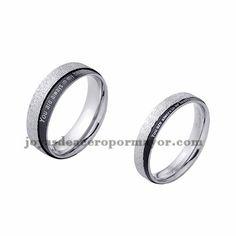 anillo de estilo brillante en acero plata inoxidable para amantes -SSRGG971714
